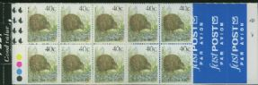 NZ Booklet SGSB53 $4 Brown Kiwi Booklet containing SG1463 8 Kiwi